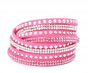 "Wickelarmband ""klassik"" - pink"