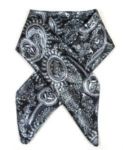 Halstuch Paisley schwarz