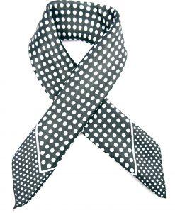 Bandana mit Punkten in schwarz-weiß