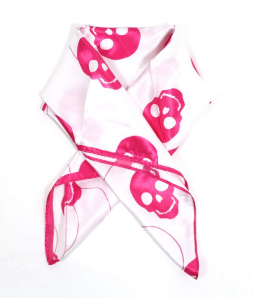 Halstuch Totenkopf rosa