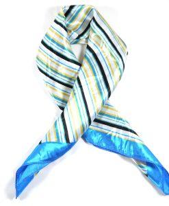 Halstuch Bandana STreifen blau-gelb-weiß