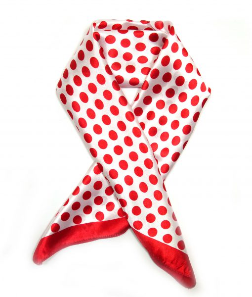 Bandana Halstuch Punkte weiß-rot