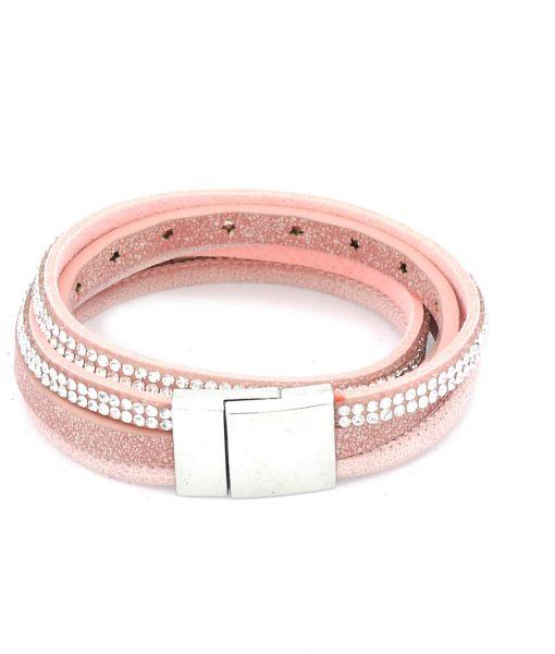 Wickelarmband Sterne rosa
