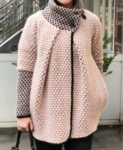 Strickjacke, Ballonjacke in hellrosa