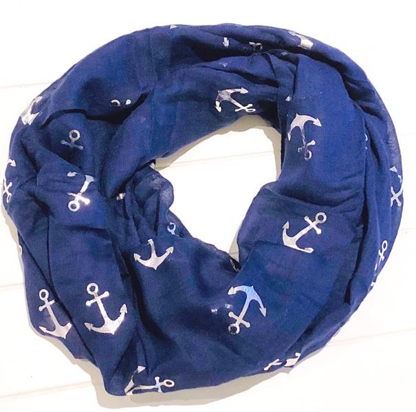 Anker Loop in blau mit silbernen Ankern