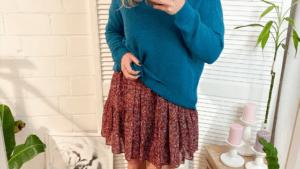 Tunika Pullover blau